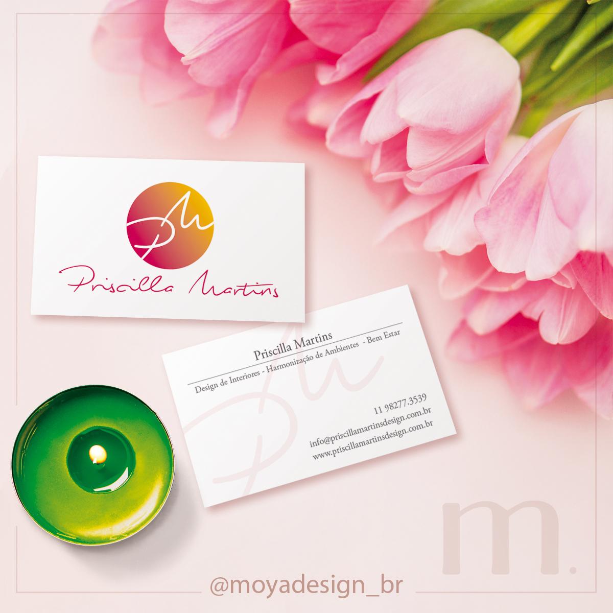 cartão de visitas Priscilla Martins