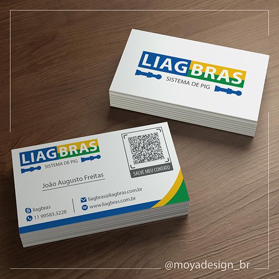 Layout para cartão de visitas da LIAGBRAS